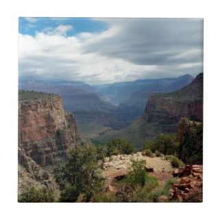 Bright Angel Trail Grand Canyon overlook Ceramic Tile