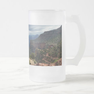 Bright Angel Trail Grand Canyon overlook Frosted Glass Beer Mug
