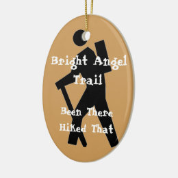 Bright Angel Trail Hiked That Ceramic Ornament