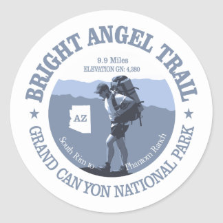 Bright Angel Trail (rd) Classic Round Sticker