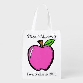 Bright Apples Grocery, Gift, Favor Bag - SRF Market Tote