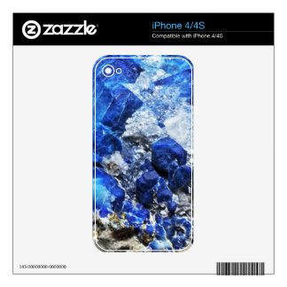 Bright Aqua Blue Geode Mineral Stone Decal For The iPhone 4S