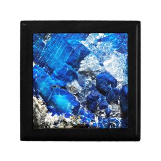 Bright Aqua Blue Geode Mineral Stone Gift Box