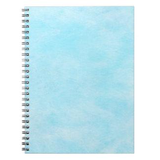Bright Aqua Blue Teal Watercolor Paper Color Spiral Notebook