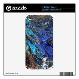 Bright Aqua Blue Turquoise Mineral Stone Decal For iPhone 4