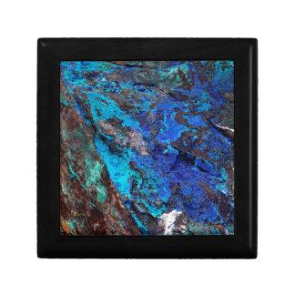 Bright Aqua Blue Turquoise Mineral Stone Keepsake Box