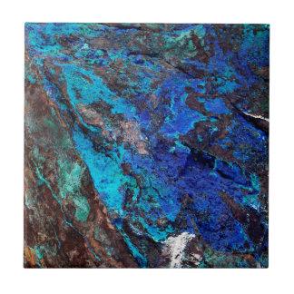 Bright Aqua Blue Turquoise Mineral Stone Tile