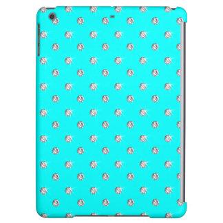 Bright aqua diamonds iPad air cover