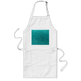 Bright aqua glitter apron