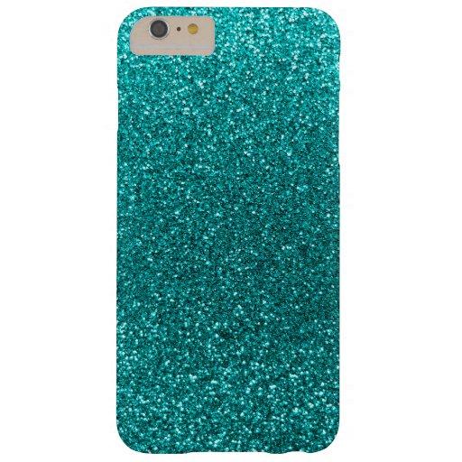 bright aqua glitter barely there iphone 6 plus case zazzle. Black Bedroom Furniture Sets. Home Design Ideas