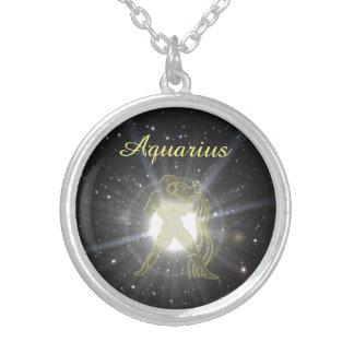 Bright Aquarius Silver Plated Necklace