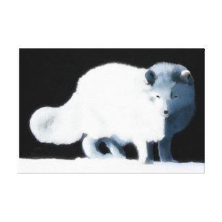 Bright Arctic Fox Canvas Print