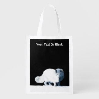 Bright Arctic Fox Grocery Bag