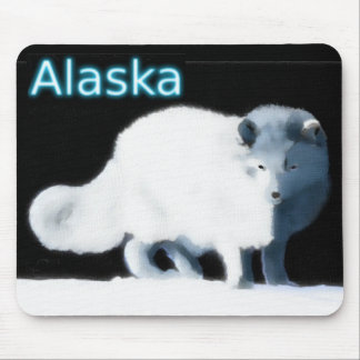 Bright Arctic Fox Mouse Pad