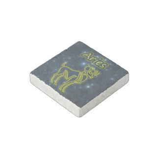Bright Aries Stone Magnet
