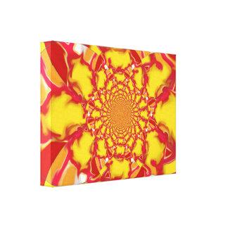 "Bright Art Piece ""Squazzle"" Kaleidoscope Design 2 Canvas Print"