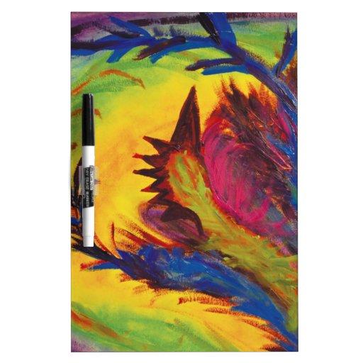 Bright Artistic Abstract Design Dry-Erase Board