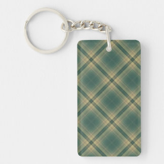 Bright Attractive Simple Grin Double-Sided Rectangular Acrylic Keychain