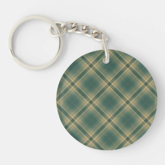 Bright Attractive Simple Grin Double-Sided Round Acrylic Keychain
