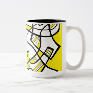 Bright Attractive Simple Grin Two-Tone Coffee Mug