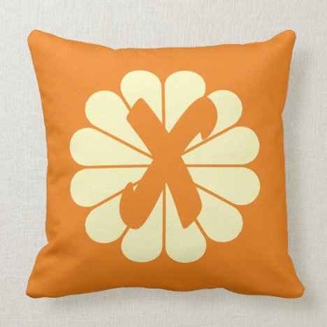 Bright Autumn Fall Vibe Floral Throw Pillow