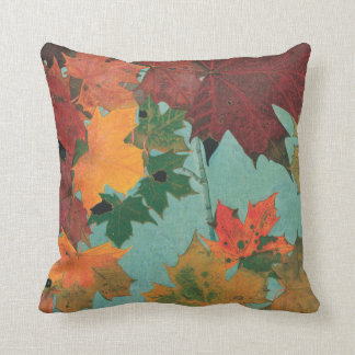 Bright Autumn Leaves Throw Pillow