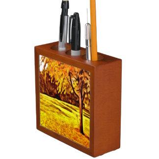 bright Autumn Tree Desk Organizer