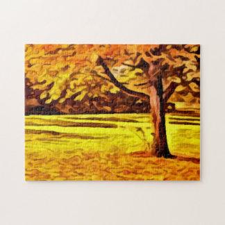 bright Autumn Tree painting Photo Puzzle