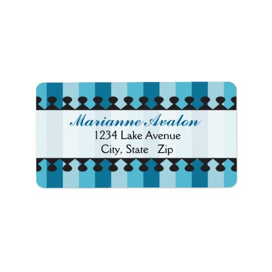 Bright Awnings Blue Address Labels