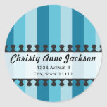 Bright Awnings Blue Address Sticker