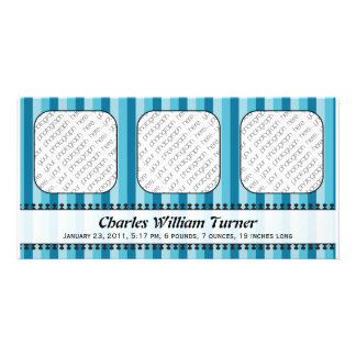 Bright Awnings Blue Birth Announcement