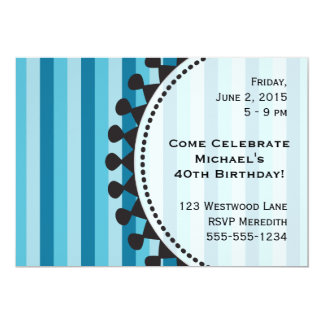 Bright Awnings Blue Birthday Invitation