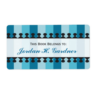 Bright Awnings Blue Bookplates Shipping Label