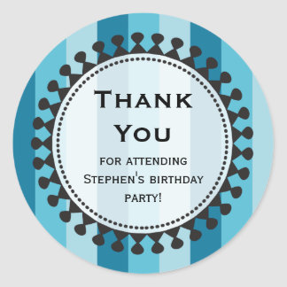 Bright Awnings Blue Thank You Sticker