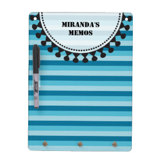 Bright Awnings Dry Erase Board - Blue Stripes