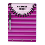 Bright Awnings Dry Erase Board - Purple Stripes
