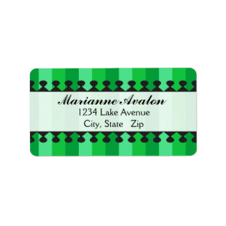 Bright Awnings Green Address Labels