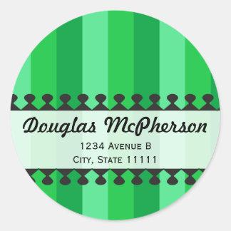 Bright Awnings Green Address Sticker