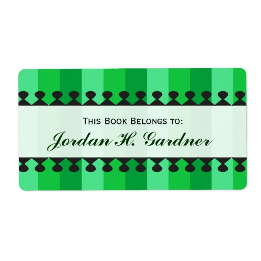 Bright Awnings Green Bookplates Shipping Label