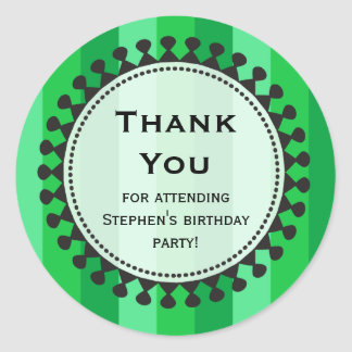 Bright Awnings Green Thank You Sticker