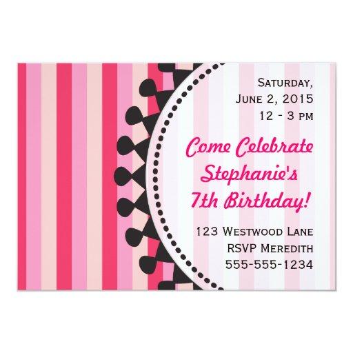 Bright Awnings Pink Birthday Invitation