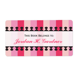 Bright Awnings Pink Bookplates