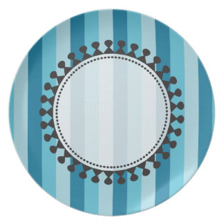 Bright Awnings Plate - Blue