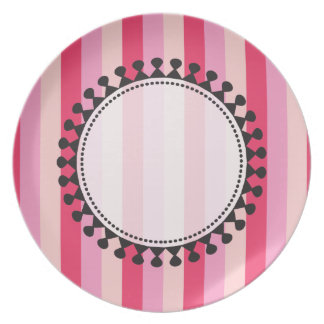 Bright Awnings Plate - Pink