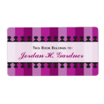 Bright Awnings Purple Bookplates Custom Shipping Label