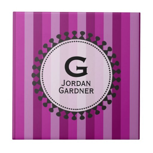Bright Awnings Purple Personalized Tile