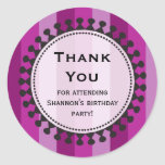 Bright Awnings Purple Thank You Sticker