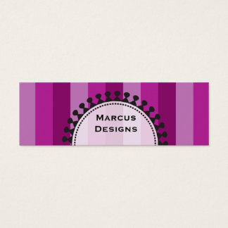 Bright Awnings Skinny Purple Business Cards