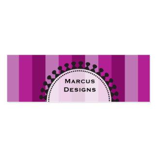 Bright Awnings Skinny Purple Business Cards