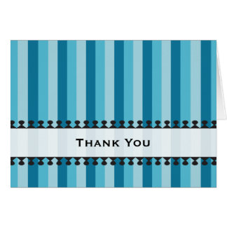 Bright Awnings Striped Thank You Notecard Stationery Note Card